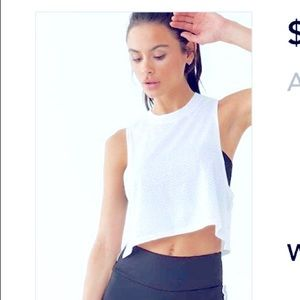 Active Perforated Cropped Tank Top